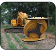 Diamond excavator boom mower
